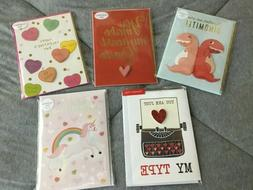 Valentine Day cards lot of 5 Molly & Rex  Lady Jayne Blue In