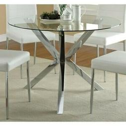 Coaster 120760-CO Vance Contemporary Glass Top Round Dining