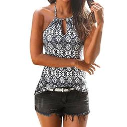 TATGB Womens Vintage Summer Strappy Vest Top Sleeveless Shir
