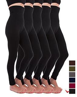 5 Pack High Waist Fleece Lined Thick Tummy-Compression Brush