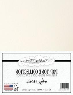 WHIP CREAM WHITE Cardstock Paper - 8.5 x 11 inch 100 lb. Hea
