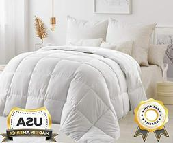 ComfyDown White Comforter - Hypoallergenic, Washable, Breath