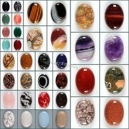 Wholesale 30mm Oval cabochon CAB flatback semi-precious gems