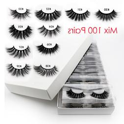 Wholesale Eyelashes 20/40/50/100pcs 3d Mink Lashes Natural M