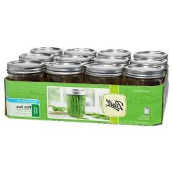 Ball Wide Mouth Pint 16-Ounce Glass Mason Jar with Lids and