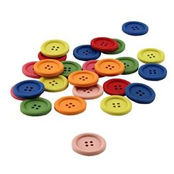 Hygloss Products Wood Buttons - Bright Colored Craft Wooden