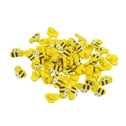 100pcs Wooden Buttons in Bulk Buttons for Crafts Yellow Bees