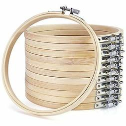 12 pieces 6 inch wooden embroidery hoops bulk wholesale bamb