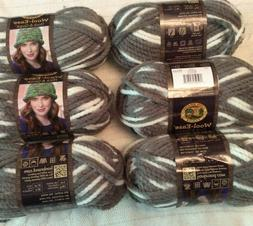 Lion Brand Wool-Ease Thick & Quick Yarn, Lot of 6 in Seagull